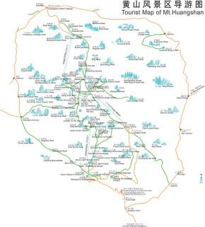 Huangshan Hiking Map