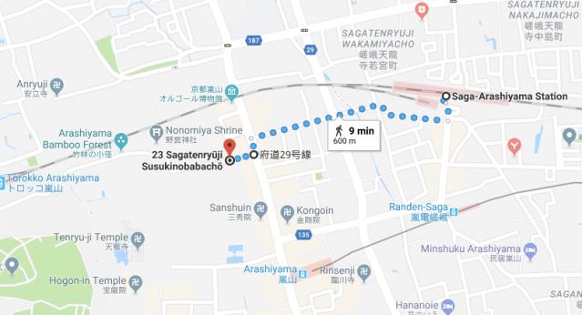Arashiyama walking map