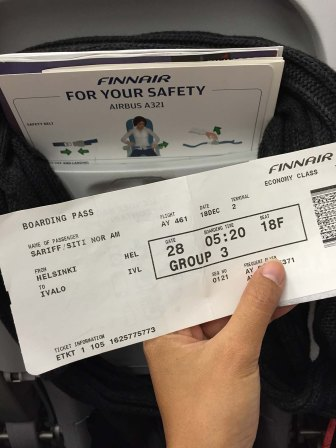 Finnair Boarding Pass