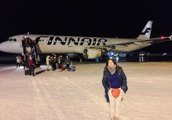 Me arrived at Ivalo Airport