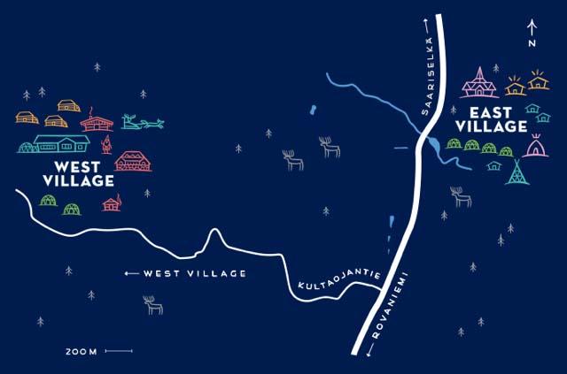 Kakslauttanen villages