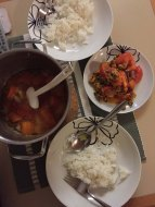 Another meals I cooked during our stay.