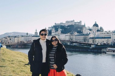 Hohensalzburg Fortress at the background
