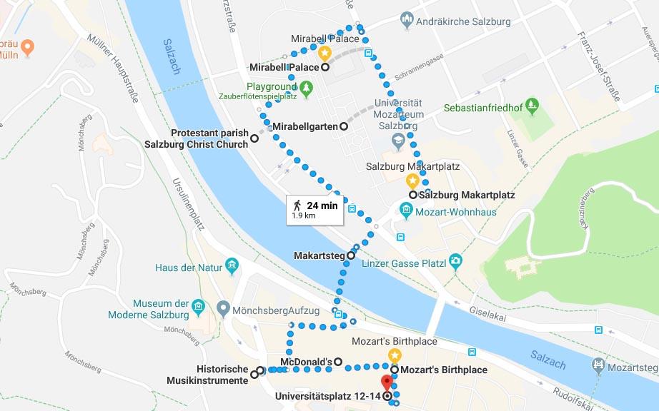 Walking tour in Salzburg