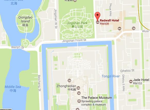 Jingshan Park map
