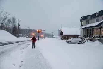 Walking back to bus stop