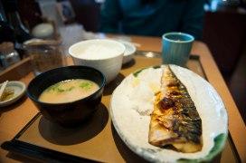 Saba Shioyaki set meal