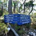 Signage of the overland tracks.