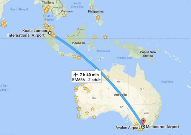 KL to Melbourne, VIC