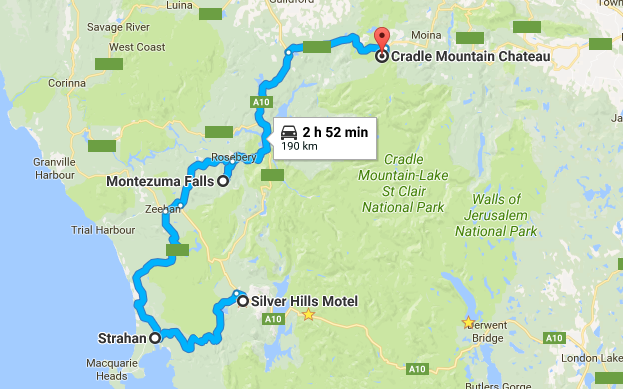 Queenstown to Cradle Mountain