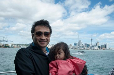 We were on the ferry.