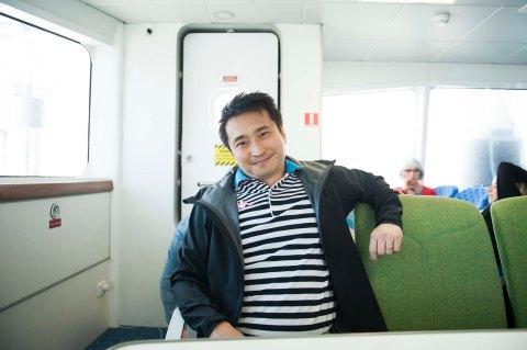 Ferry on the way to Devon Port