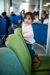 On ferry