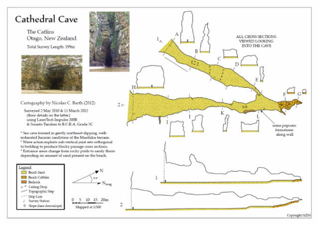 Cathedral Caves map