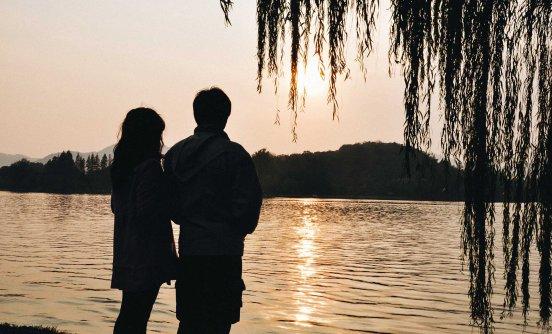 Sunset at West Lake